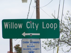 Willow City Loop Rd. Sign